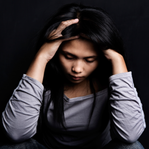 Image of a depressed woman