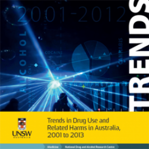 Image: cover of Trends in Drug Use and Related Harms in Australia, 2001-2013