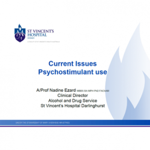 Current Issues - Psychostimulant Use
